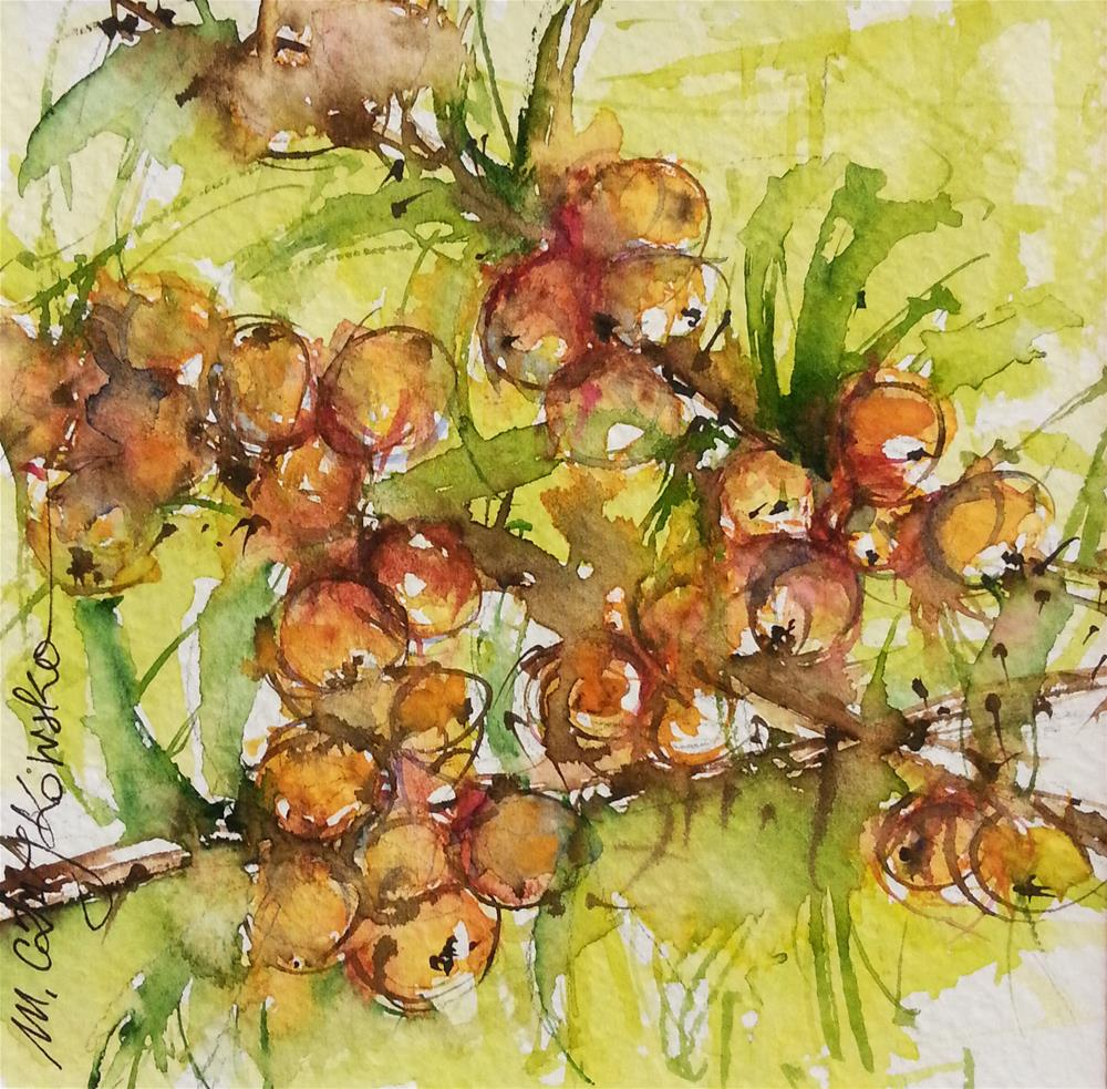 """Buckthorn"" original fine art by Marlena Czajkowska"
