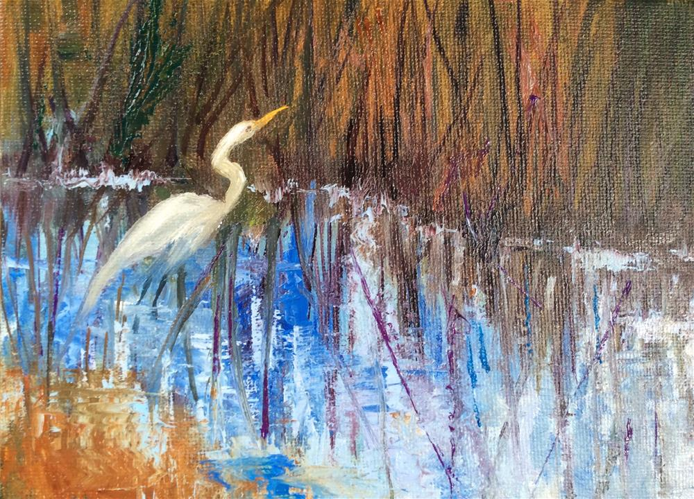 """""""Looking for Lunch"""" original fine art by Jacquelyn Blue"""