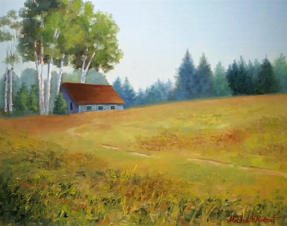"""Maine Cottage"" original fine art by Michelle Rideout"