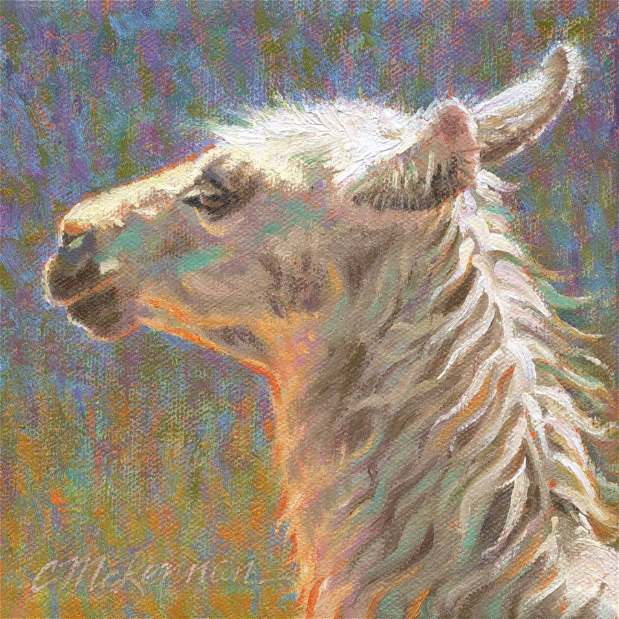 """Cria"" original fine art by Connie McLennan"