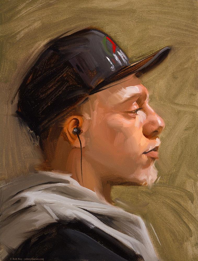 """Jordan"" original fine art by Rob  Rey"