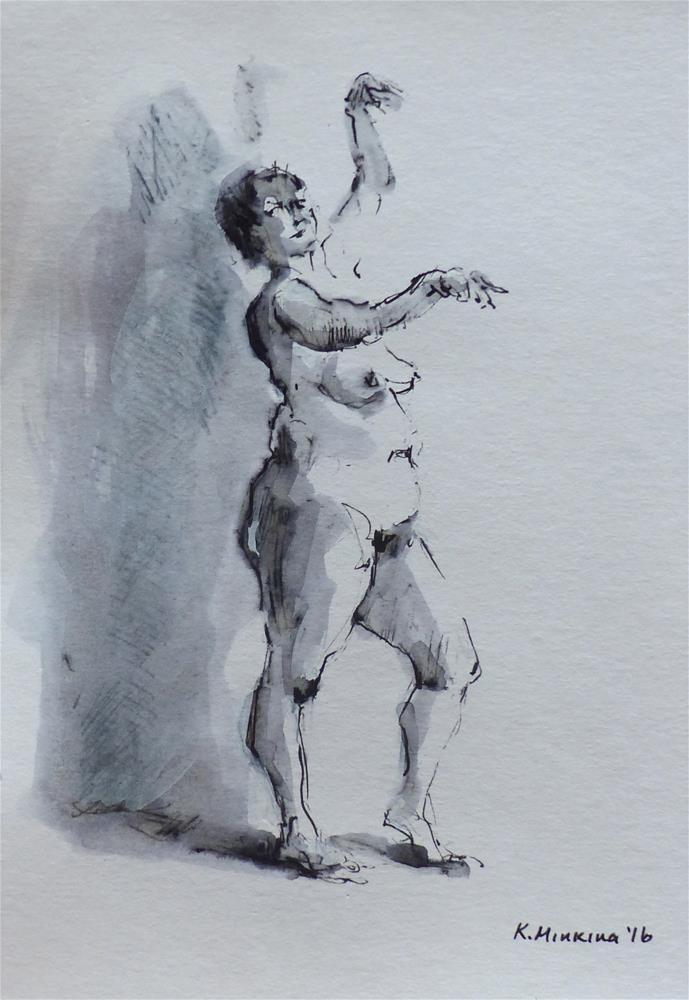 """sketchbook#20"" original fine art by Katya Minkina"