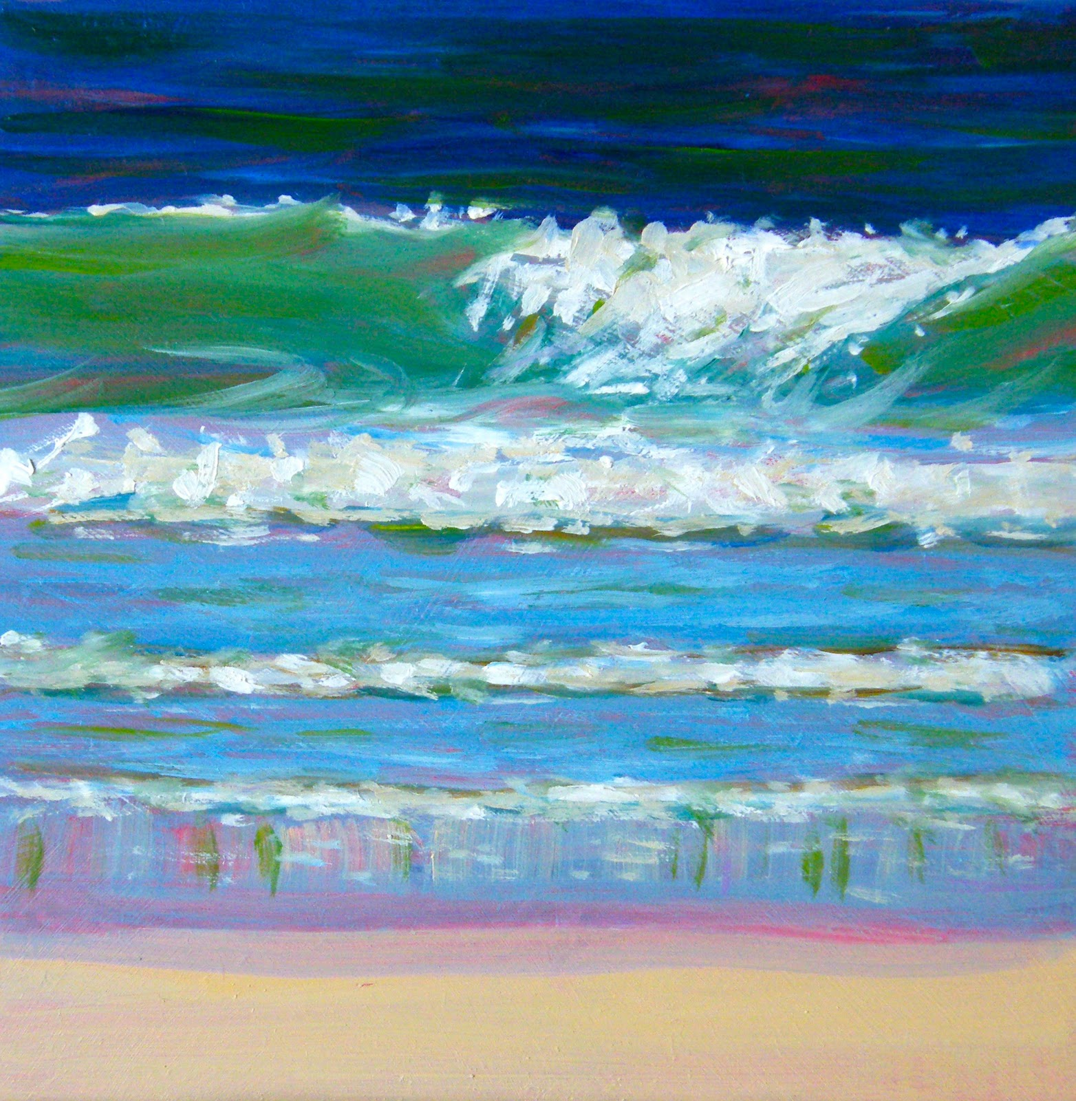 """Wavelength"" original fine art by Ken Devine"