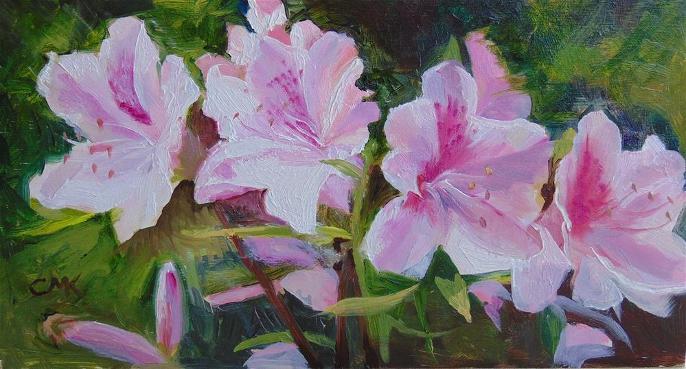"""Azaleas"" original fine art by Catherine Kauffman"