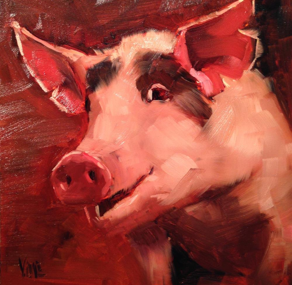 """#121 Giving Thanks"" original fine art by Patty Voje"
