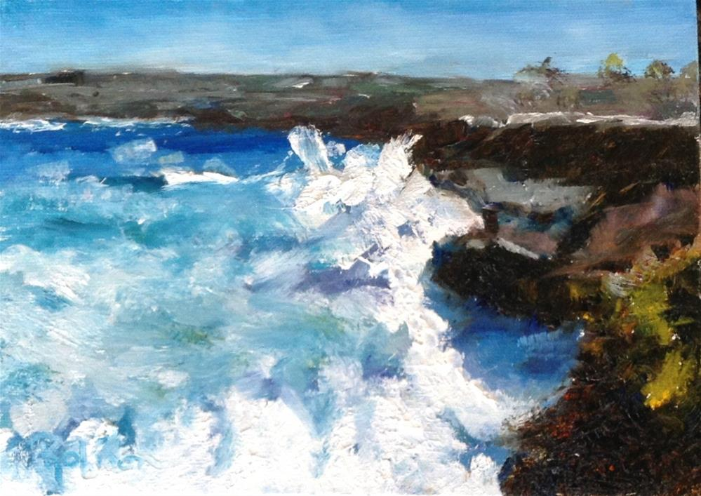"""California Coastline "" original fine art by Renee Robison"