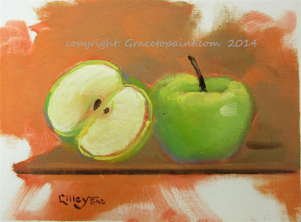 """Apples on a Shelf"" original fine art by Maresa Lilley"