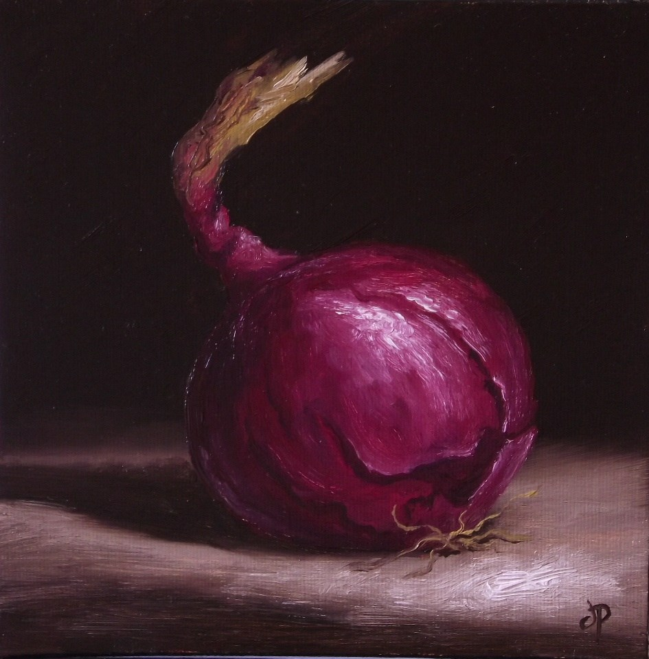 """Red Onion #2"" original fine art by Jane Palmer"