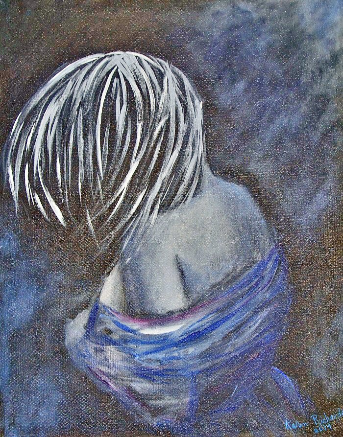 """Shy Lady"" original fine art by karen richardson"