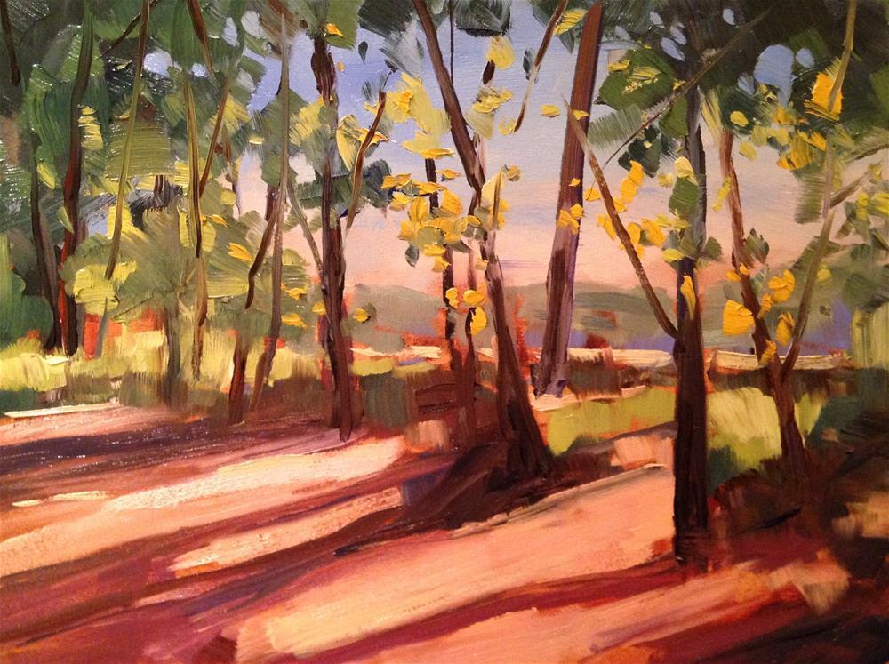 """#201 Fall Walk"" original fine art by Patty Voje"