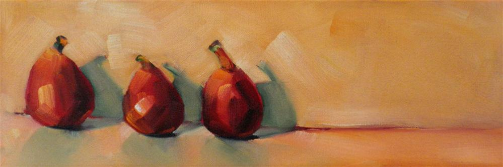 """Fig Trio"" original fine art by Cheryl Wilson"