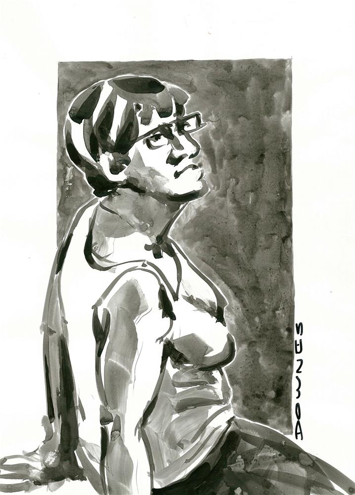 """316 LIFE DRAWING 31"" original fine art by Trevor Downes"
