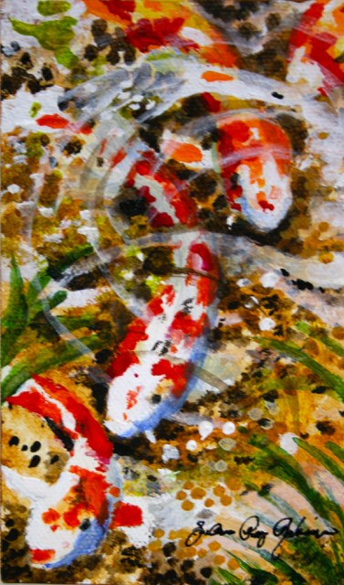 """Pond Dwellers"" original fine art by JoAnne Perez Robinson"