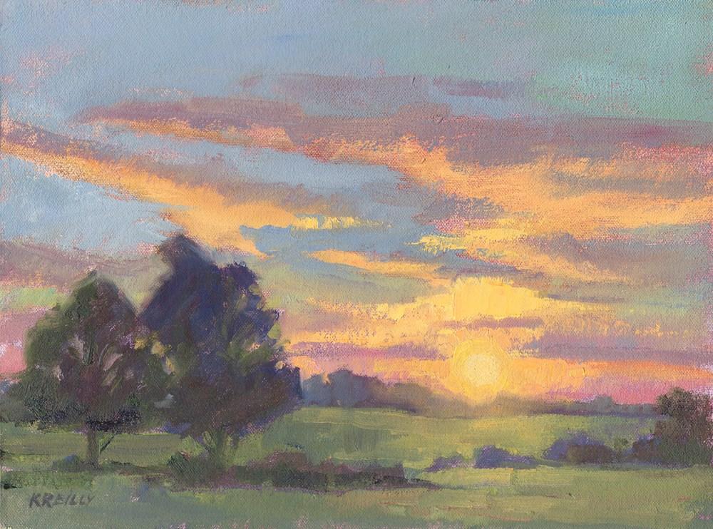 """Sunrise #2"" original fine art by Kath Reilly"