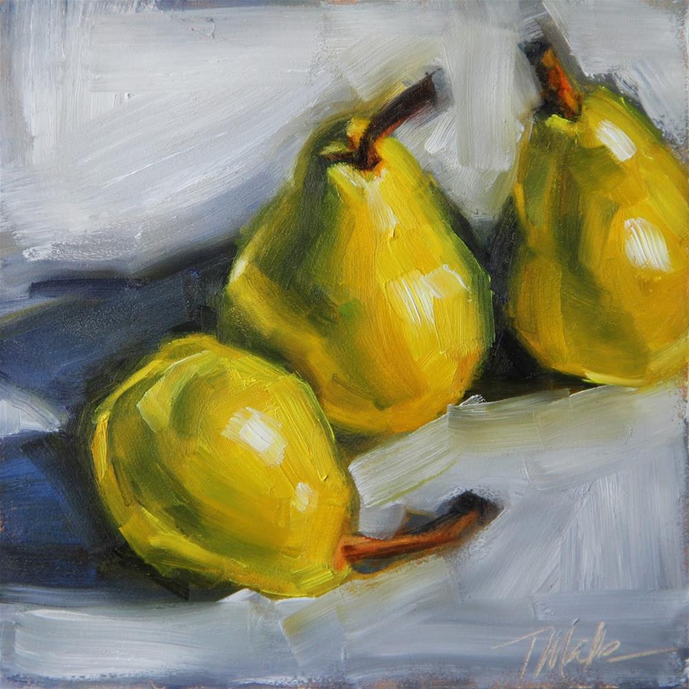 """Pear Trio"" original fine art by Tracy Male"