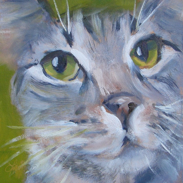 """Snickers - 366"" original fine art by Laura  Buxo"