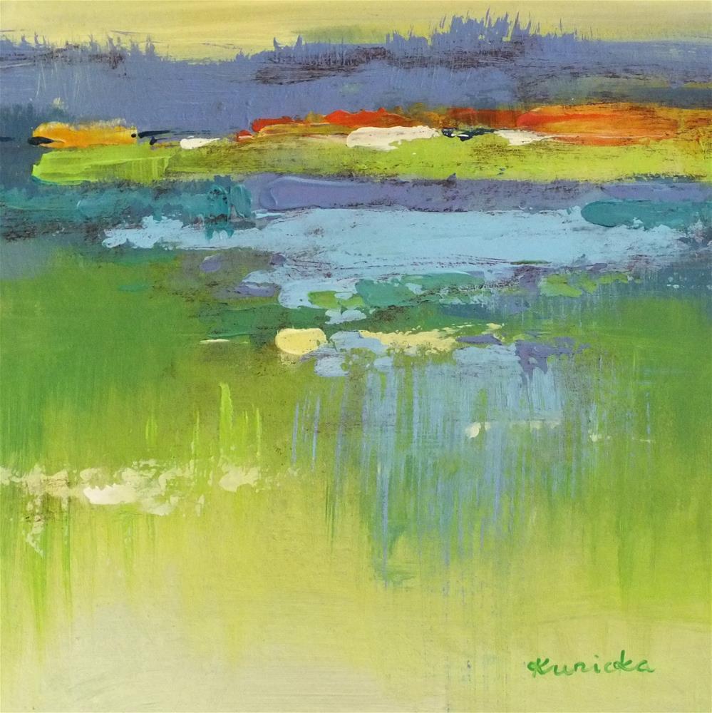 """Landscape 189"" original fine art by Ewa Kunicka"