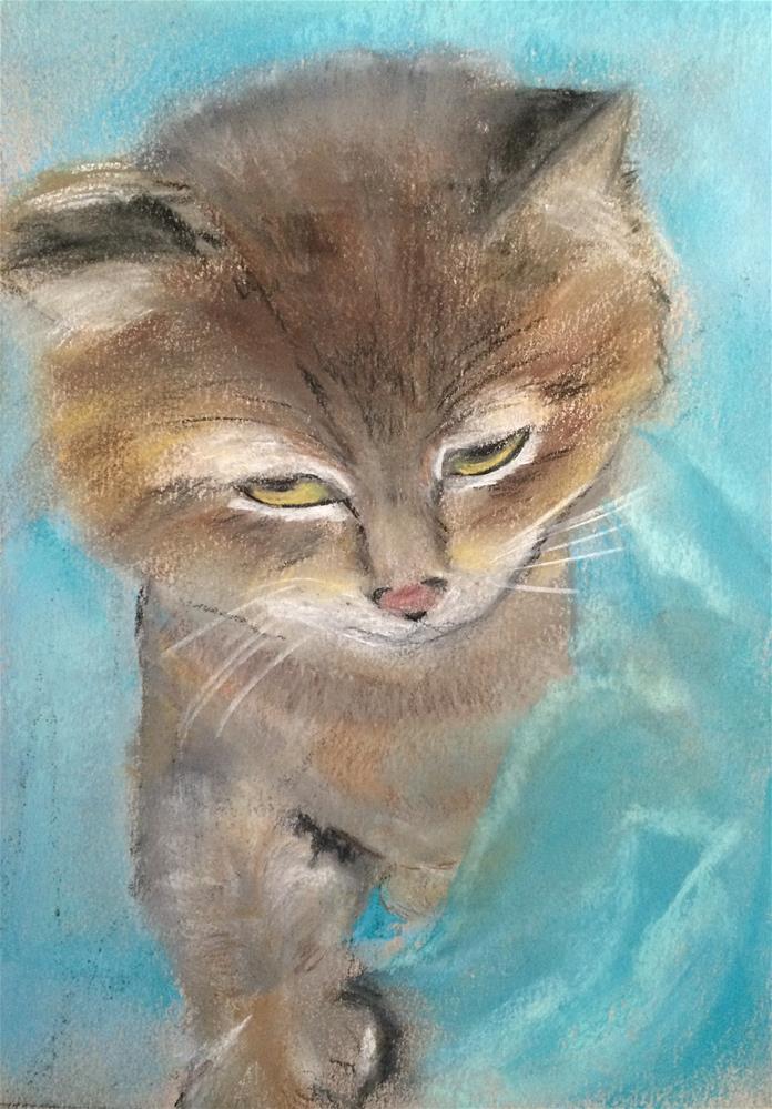 """Heidi   ~  pastel  12 x 9"" original fine art by Nancy Beard"