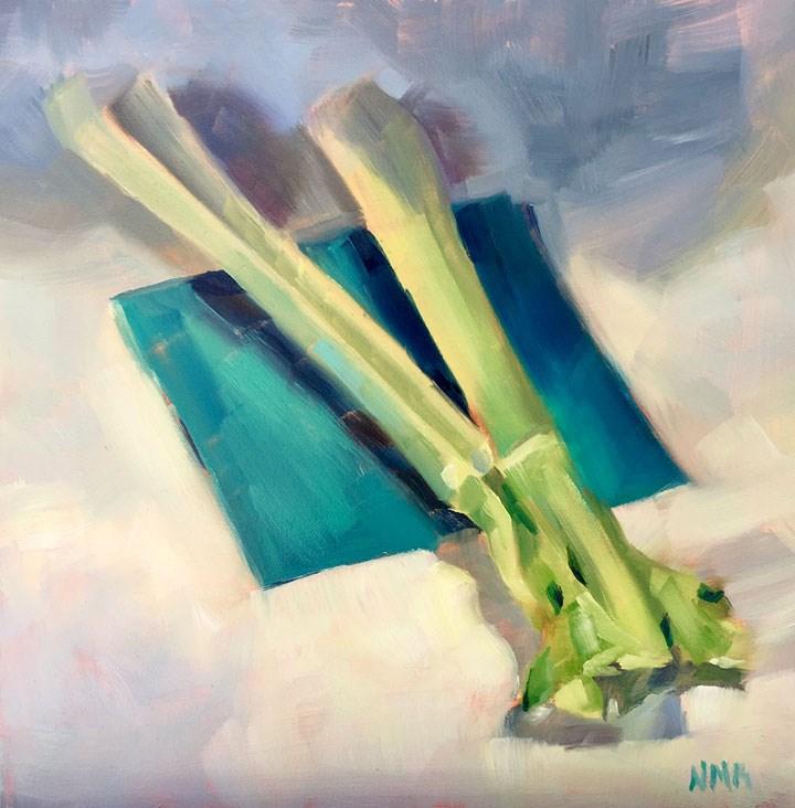 """Stalks"" original fine art by Nealy May Riley"