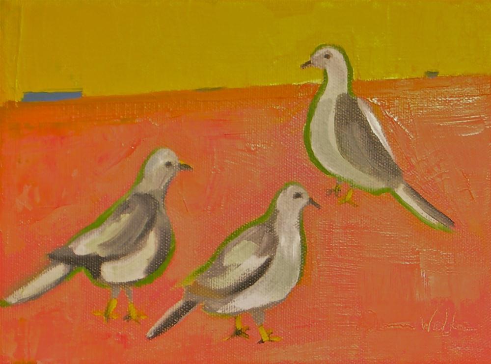 """Dove Gray"" original fine art by Donna Walker"