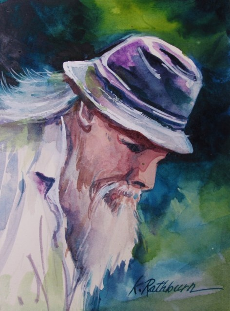 """Gentle Man"" original fine art by Kathy Los-Rathburn"