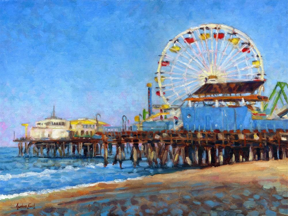 """Santa Monica Pier"" original fine art by Audra Esch"