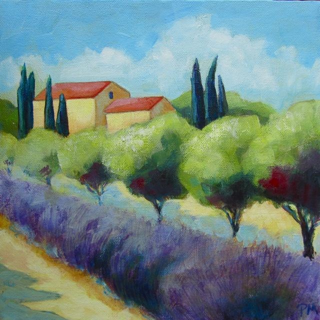 """Provence Farm"" original fine art by Patricia MacDonald"