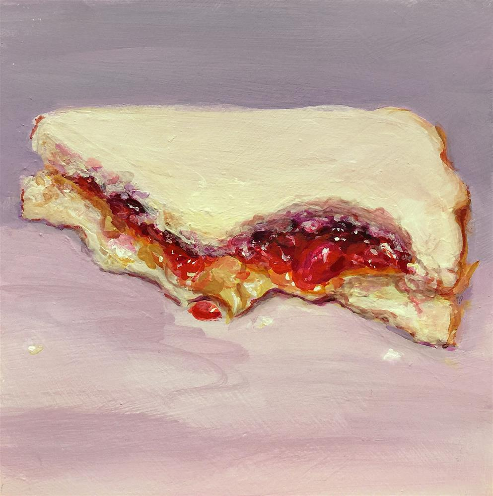 """Couldn't Wait (PB&J #30 - Peanut Butter & Jelly Sandwich Painting)"" original fine art by Sunny Avocado"