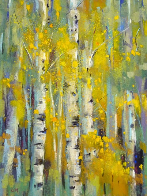 """5 Tips for Painting Vibrant Yellow Foliage with Pastels"" original fine art by Karen Margulis"