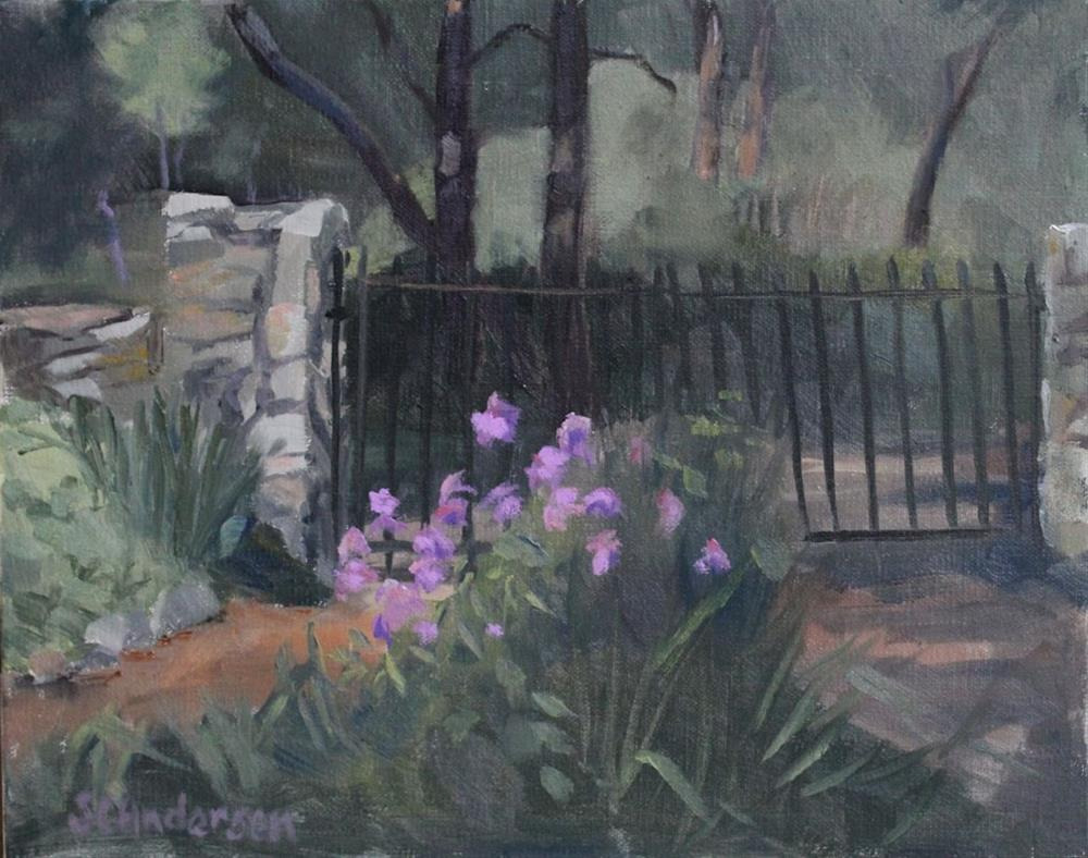 """Old garden gate"" original fine art by Susan Andersen"