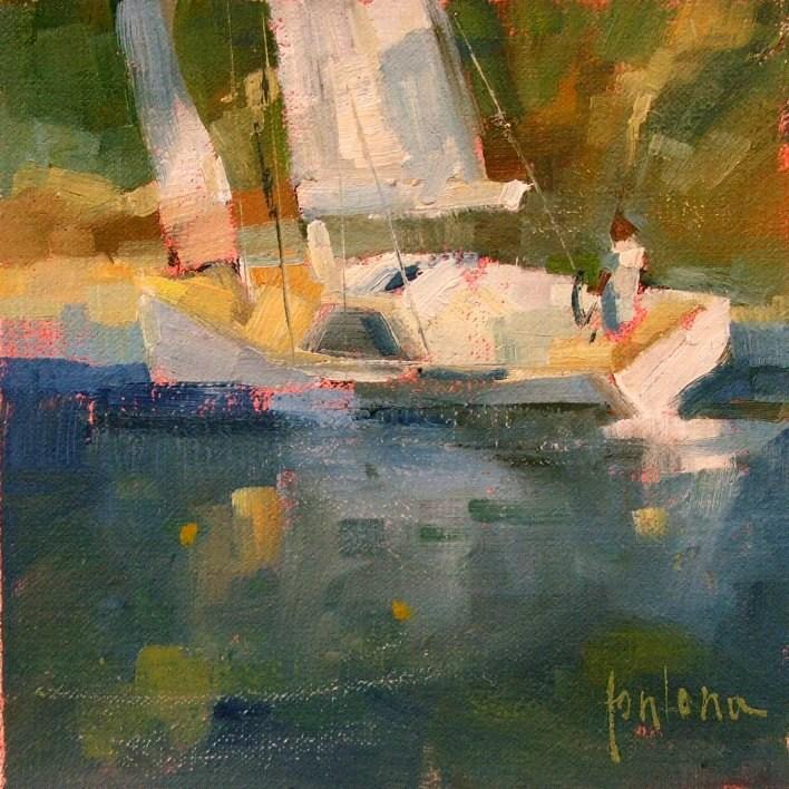 """""""Sailing Again"""" original fine art by Francesco Fontana"""