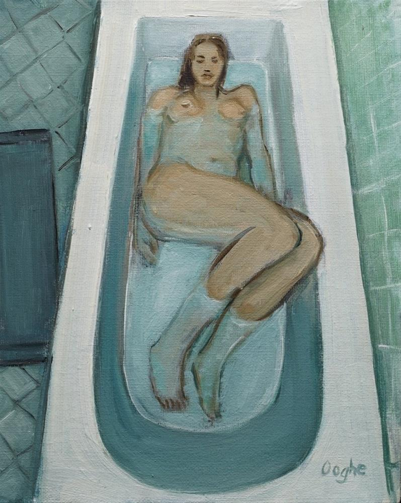 """Woman in Bathtub"" original fine art by Angela Ooghe"