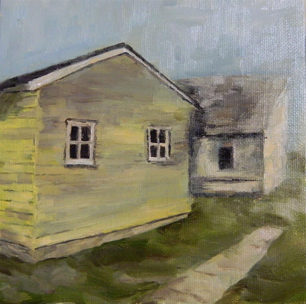 """Yellow Paint"" original fine art by Debra Shore"