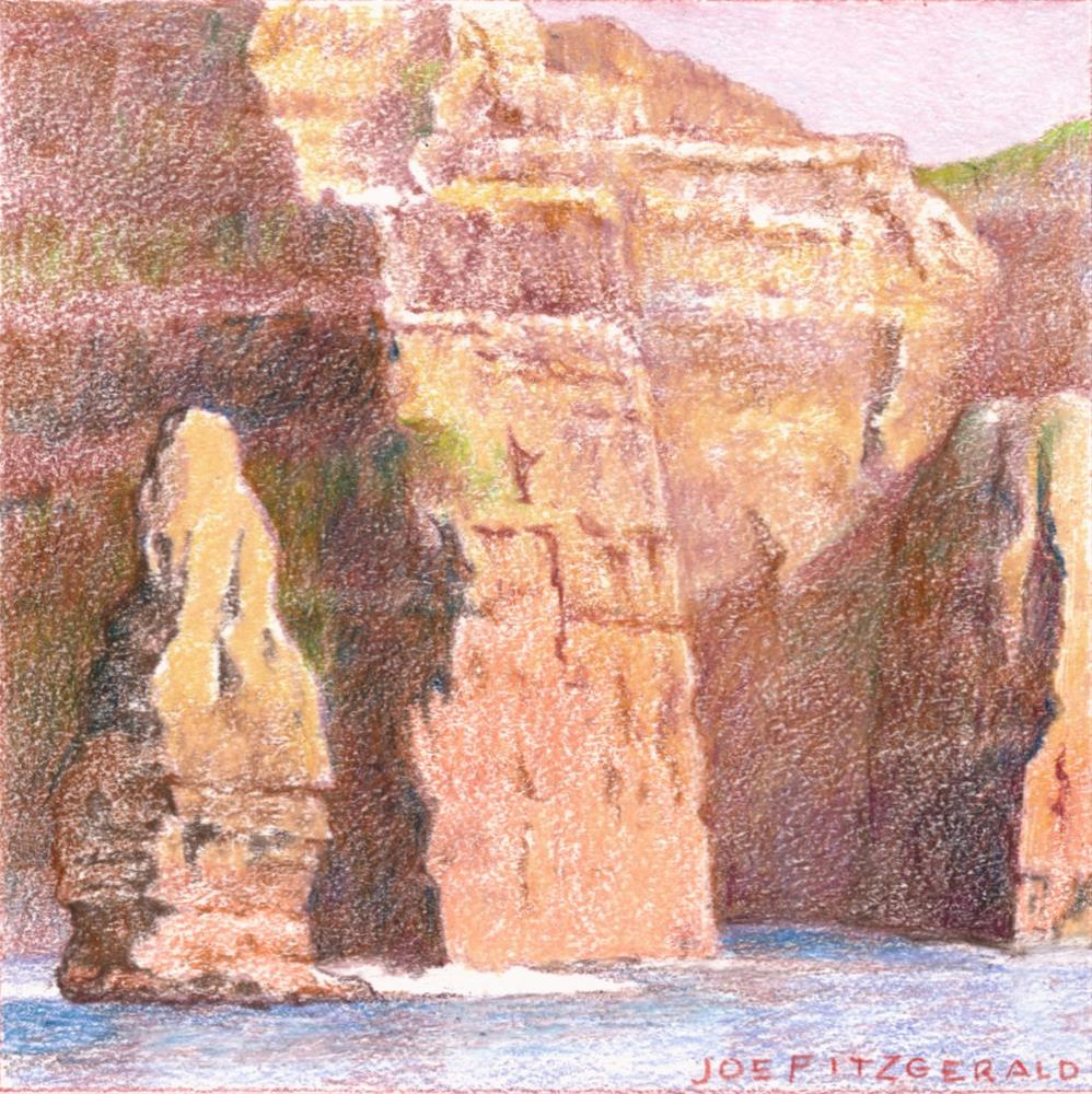 """Sailing Round Moher V"" original fine art by Joe Fitzgerald"