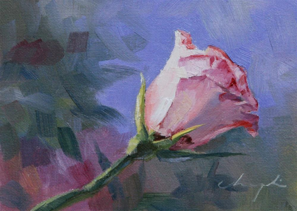"""The Rose Challenge"" original fine art by Chuang Liu"