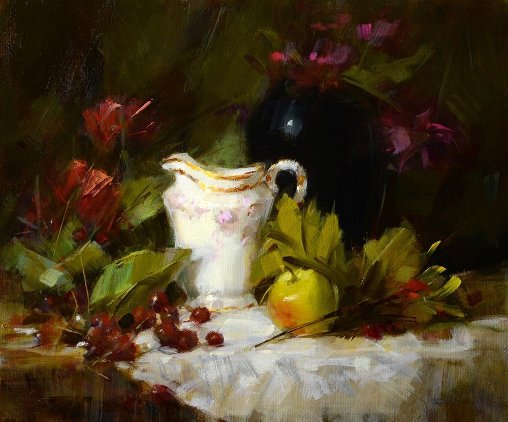 """Grandma's Creamer"" original fine art by Rita Curtis"