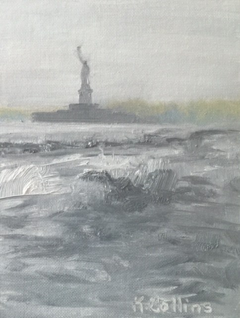 """Statue of Liberty"" original fine art by Kathy Collins"