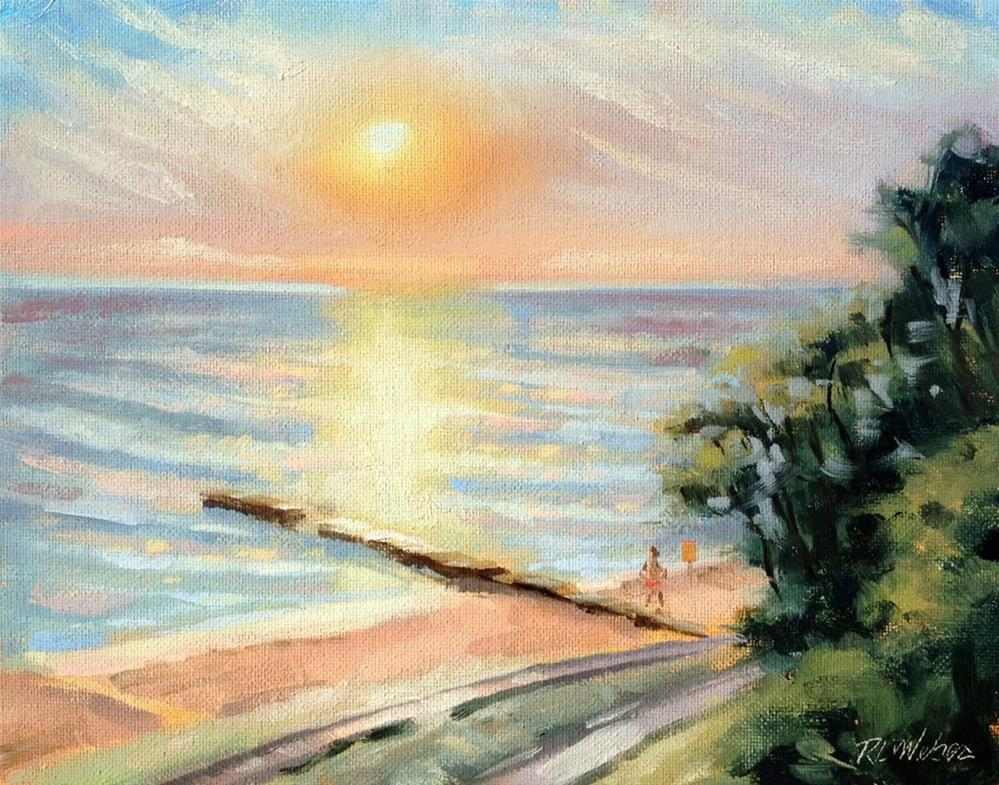 """Sunrise over Atwood"" original fine art by Rl Weber"