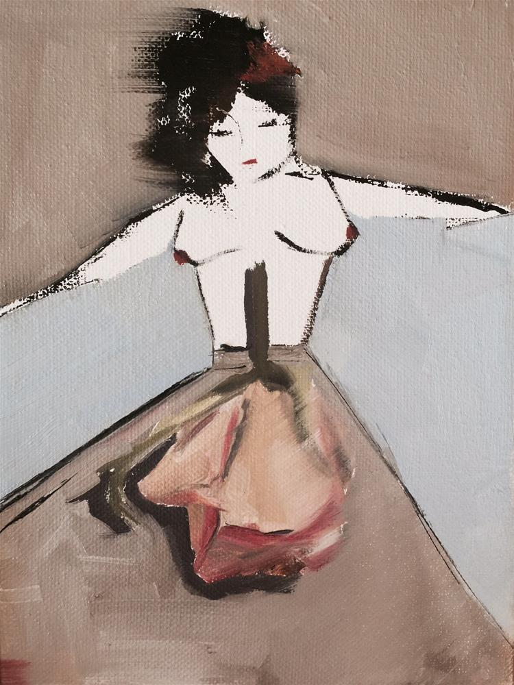 """335 Flower Girl"" original fine art by Jenny Doh"