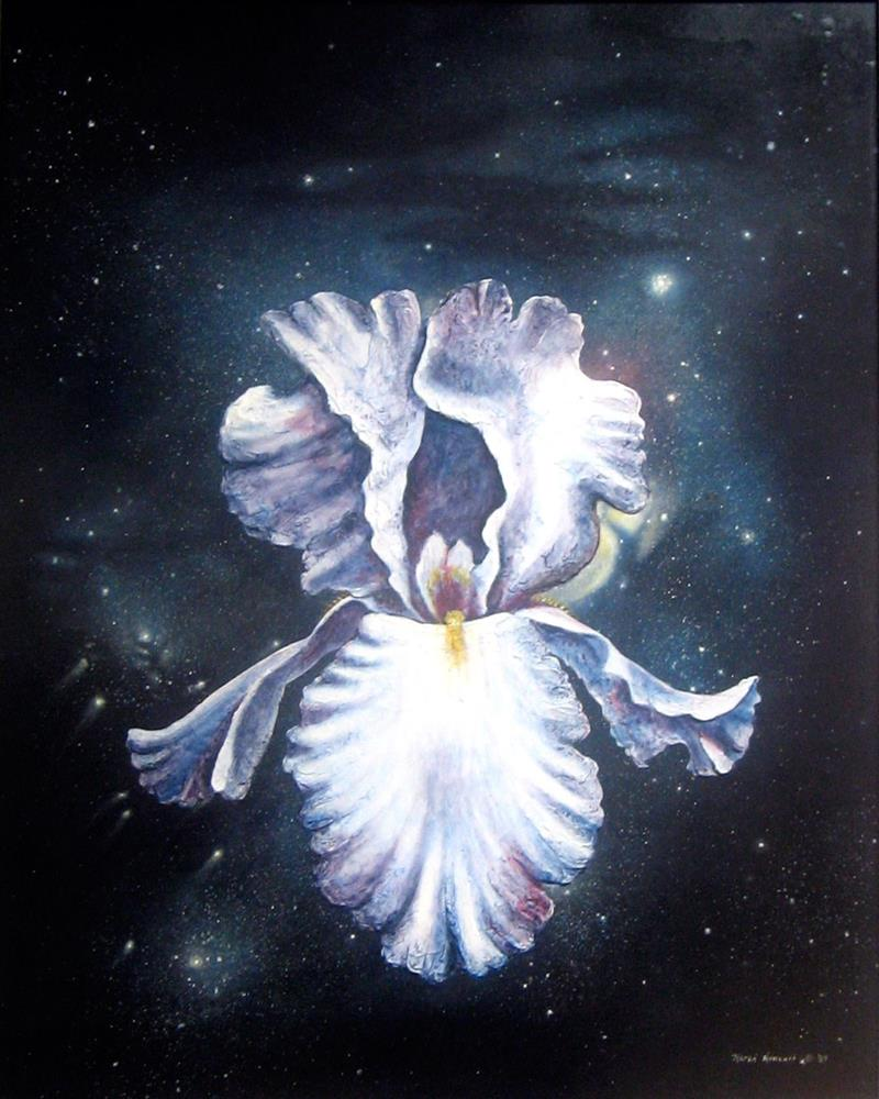 """Space Iris"" original fine art by Karen Roncari"
