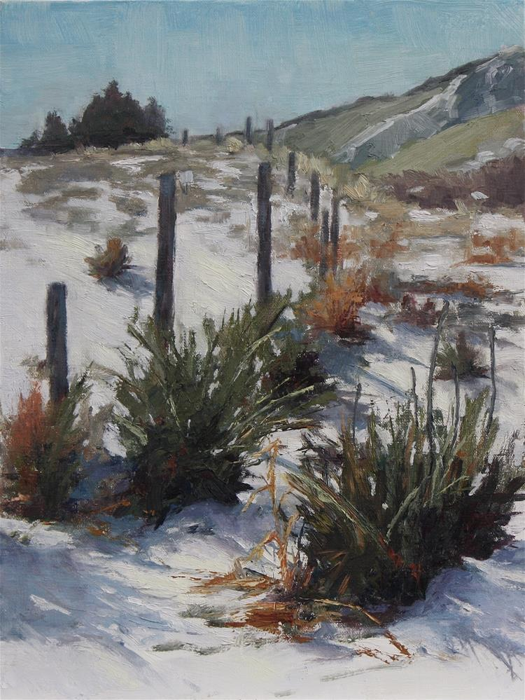 """February Snow"" original fine art by Sheila Marie"