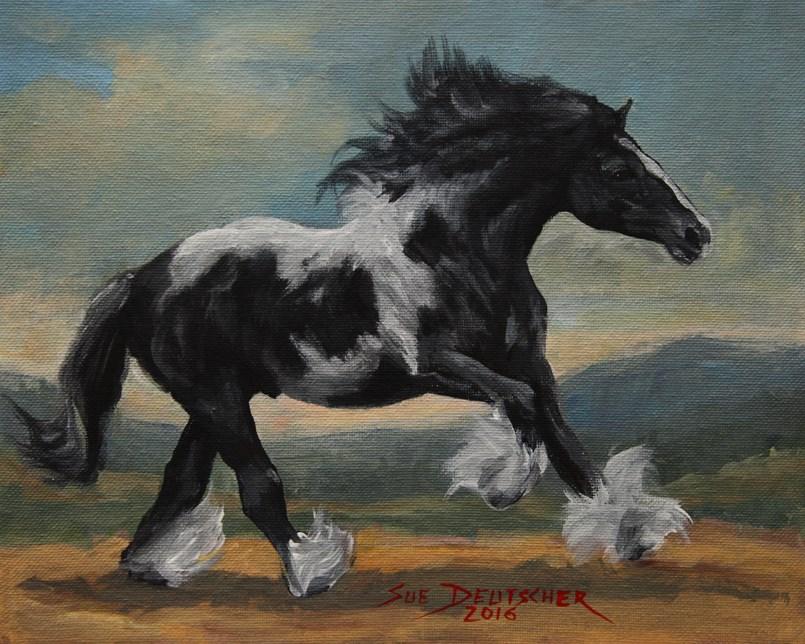 """""""Gypsy Vanner Horse"""" original fine art by Sue Deutscher"""