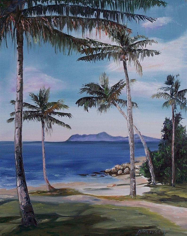"""Palm Trees"" original fine art by Donna Munsch"