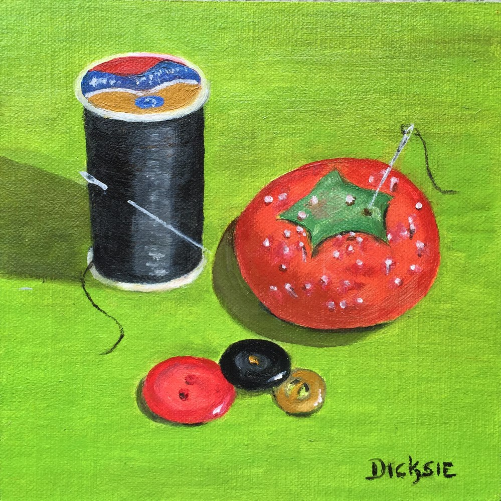"""Pins & Needles"" original fine art by Dicksie McDaniel"
