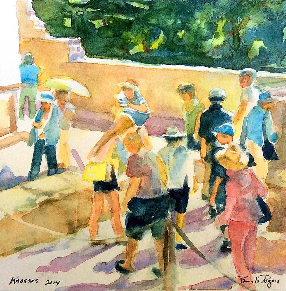 """The Queen's Frescoes"" original fine art by Pamela Jane Rogers"