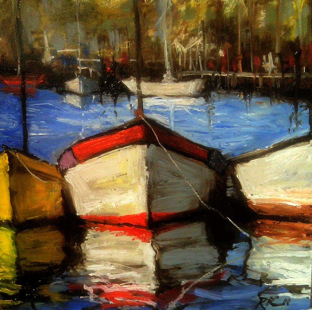 """A Day at the Harbor"" original fine art by Bob Kimball"