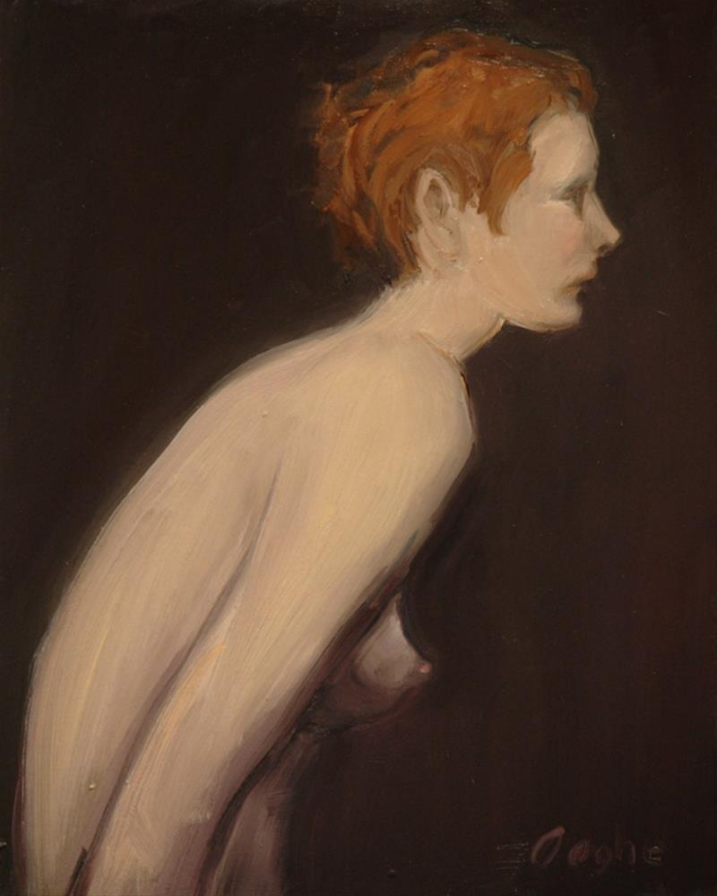 """Redheaded Nude"" original fine art by Angela Ooghe"