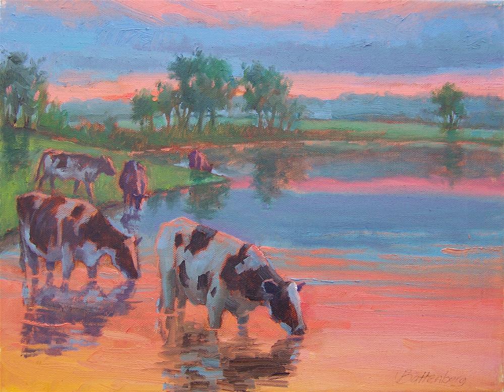 """Pink Reflections"" original fine art by Mike Battenberg"