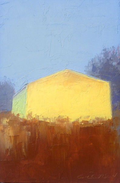 """Yellow Barn, Afternoon"" original fine art by Mary Gilkerson"