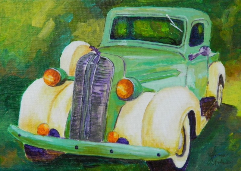 """1930's Dodge Truck #1"" original fine art by Gloria Urban"